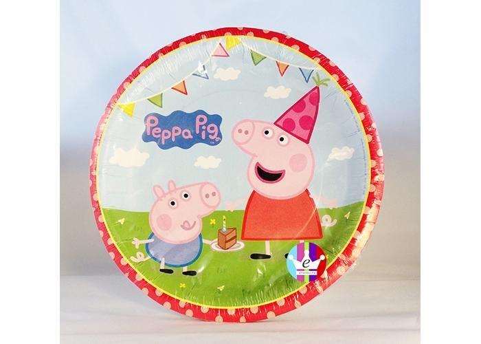 eFantasyMx: Peppa Pig, platos desechables chicos, 6 pzs - Kichink