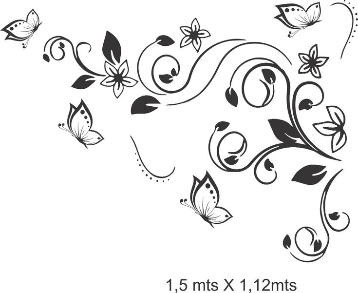 36 best fondos arabescos images on pinterest drawings for Vinilos mariposas