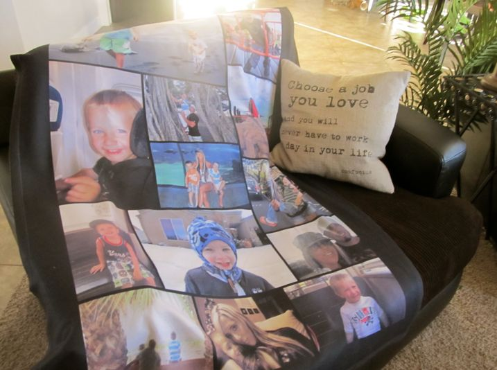 Create a blanket with MyPix2 collage blankets