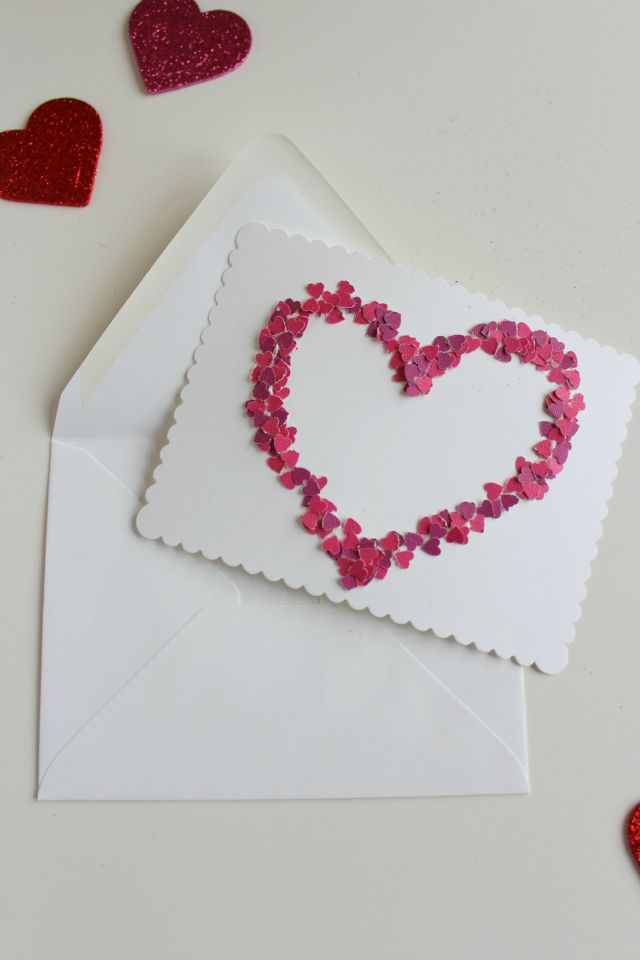 Confetti Valentines (make with a paper punch!) || http://www.designimprovised.com