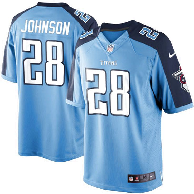 Chris Johnson Tennessee Titans Nike Youth Alternate Limited Jersey - Light Blue - $28.49