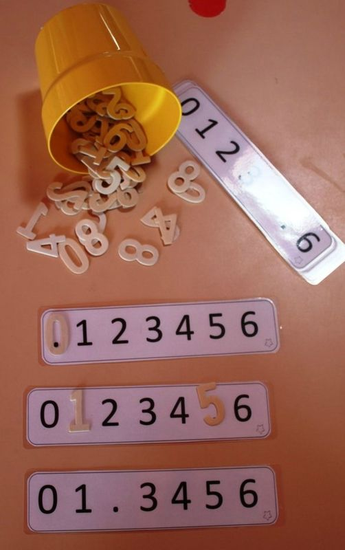 Juego para completar series de números