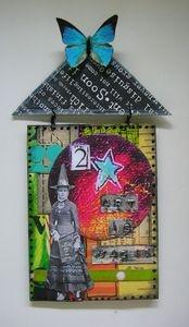 koko-rhapsody.blo...Art Work, Art Journals Mixed, Art Inspiration, Unique Art, House Art, Art House, Art Education, Altered Art, Art Illustration