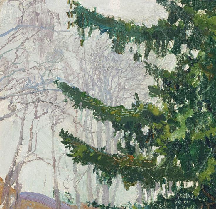 by Aksele Gallen-Kallela, Fog at Chritstmas, Finland 1912