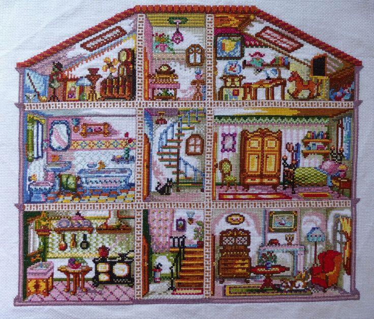 Las labores de mi madre: Patrones a punto de cruz, Casa de muñecas