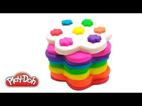 How to Make Rainbow Flower Cake Play Doh DIY Happy Rainbow