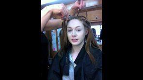 http://worldofoddballs.com/video-of-karen-gillan-getting-her-head-shaved-to-play-nebula/ Karen Gillan getting her head shaved off to play Nebula.