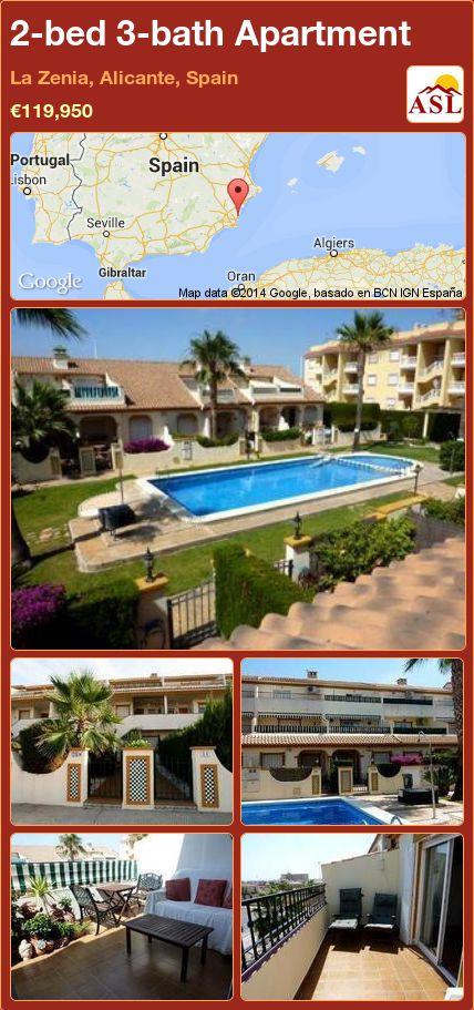 2-bed 3-bath Apartment in La Zenia, Alicante, Spain ►€119,950 #PropertyForSaleInSpain