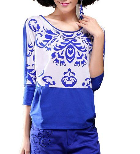 Porcelain Printing Goods Hit Seven Bat Sleeve Shirt Sleeve Splicing Fengbay http://www.amazon.com/dp/B00JA5KM3G/ref=cm_sw_r_pi_dp_bAtCub0ZX0CSP