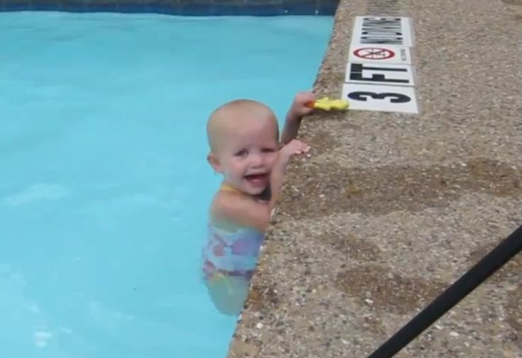 This video is amazing proof of what little ones are capable of if they're taught from an early age! >>Baby swimming video goes viral