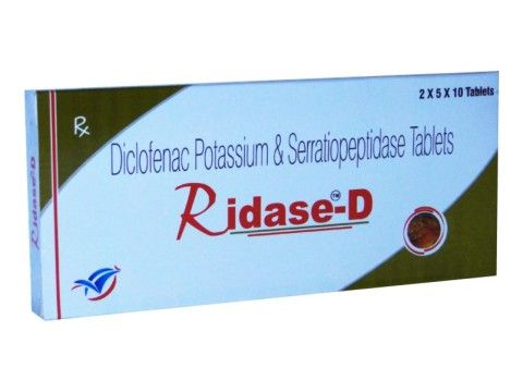 COMPOSITION :  DICLOFENAC POTASSIUM 50 MG +SERRATIOPEPTIDASE 10 MG