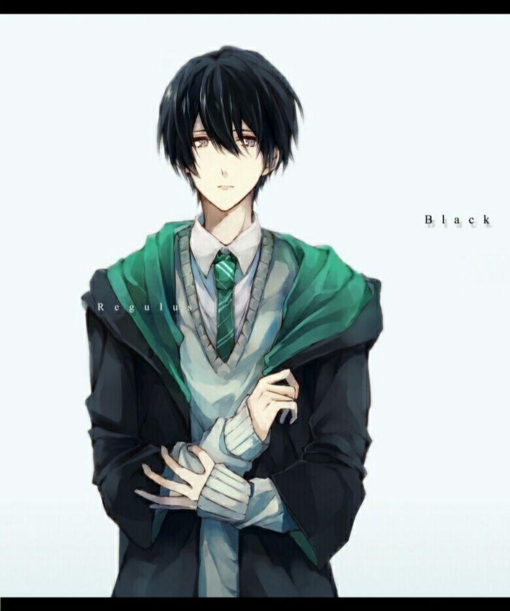 Anime junge mit schwarzen haaren