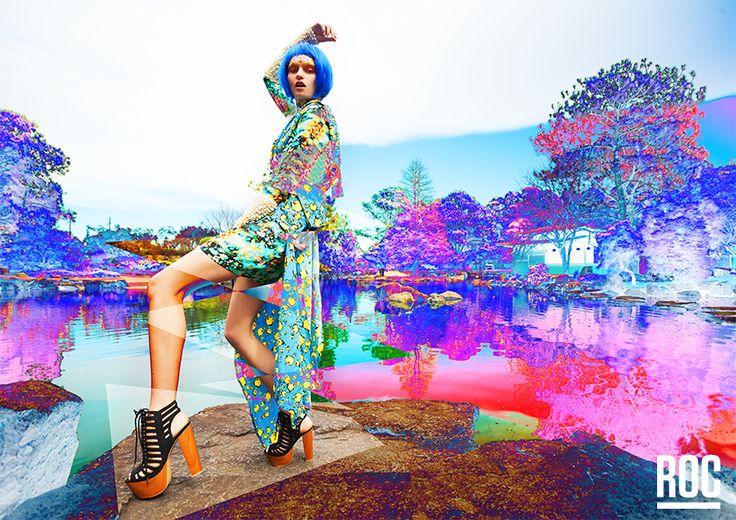 "ROC High Summer'13/14 ""ROC NEO"" // Model: Emily Green // Photographer: Petter Karlstrom // Stylist: Leigh Karlstrom // Hair+Makeup: Vanessa Collins // www.ROCBOOTS.com.au"