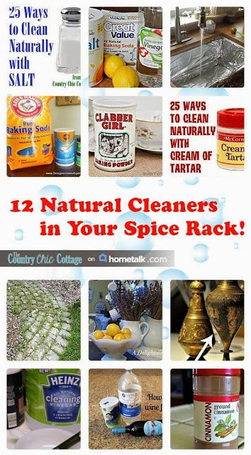 12 Natural Cleaners in Your Spice Rack | curated by 'The Country Chic Cottage' blog!