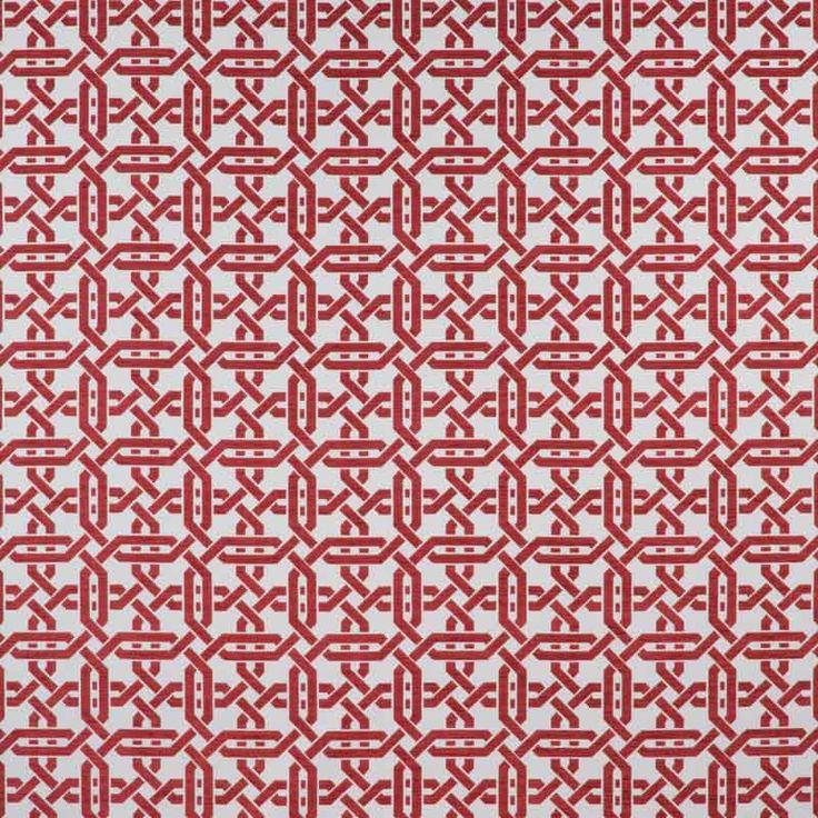 Warwick Fabrics : RIVOLI, Colour SCARLET