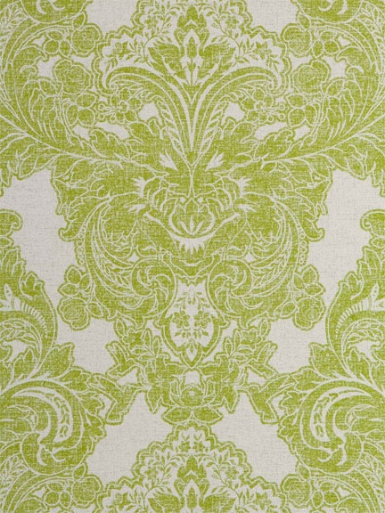 Lime Green And Grey Damask Wallpaper From American Company