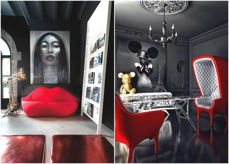Эпатажный дизайн интерьера в стиле поп-арт #interior #мебель #дизайн #интерьер #дом #уют #декор