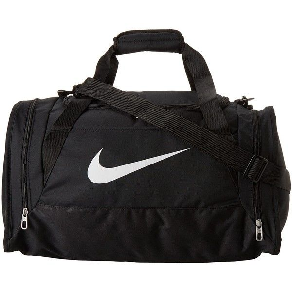 Nike Brasilia 6 Small Duffel ($35) ❤ liked on Polyvore featuring bags, luggage, sport and duffle bags