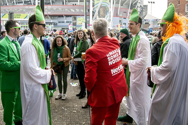 Irish Bishops - IRE v FRA - Millennium Stadium, Rugby World Cup 11th Oct, 2015. NetBet #MakeSomeNoise campaign. For more info visit www.dicelondon.com