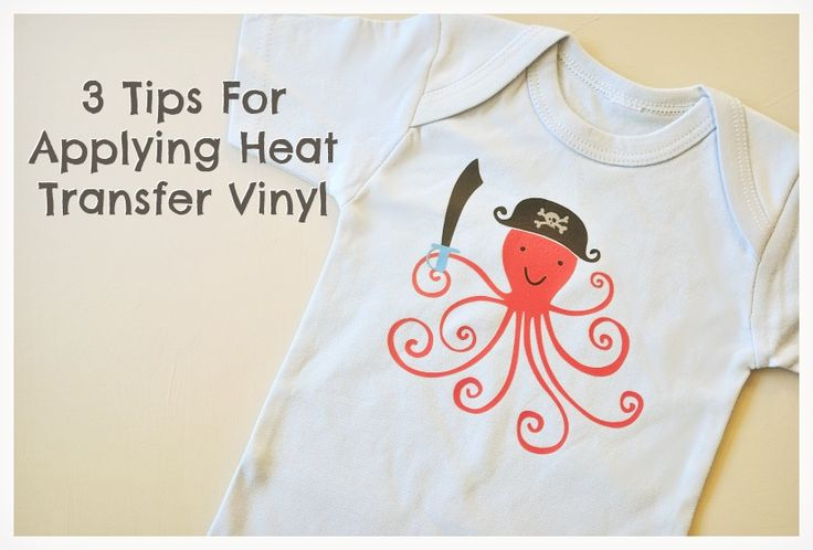 3 Tips for Applying Heat Transfer (cut with your Silhouette) from Nikki In Stitches