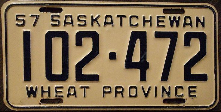 Saskatchewan license plate