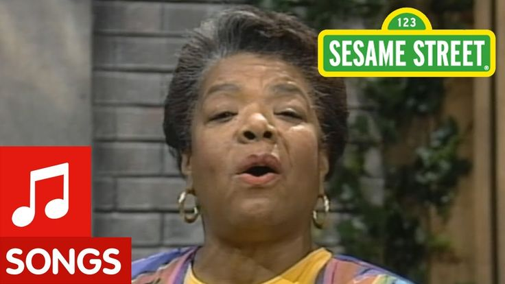 In remembrance of the incredible Maya Angelou: On November 25, 1995, Angelou appeared on Sesame Street where she sang a song about being proud of her name, and how everyone should be proud of theirs too.