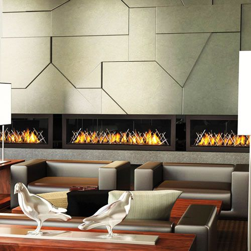 Lovely Linear Gas Fireplaces! Amazing Pictures