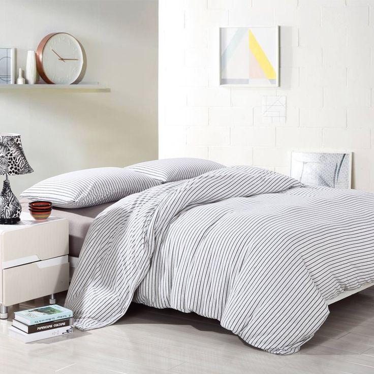 Best Pure Era Cotton Jersey Knit Duvet Cover Set 1 Comforter 400 x 300