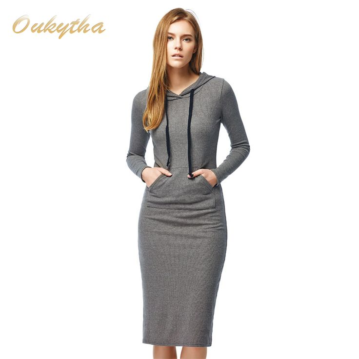 Autumn and Winter Women's Floor Length Dress Casual Hips Long Style Hooded Thickening
