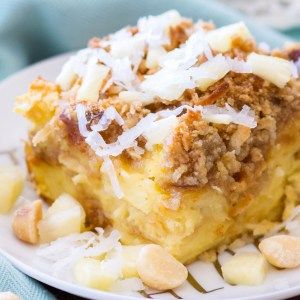 Pineapple Coconut French Toast Casserole