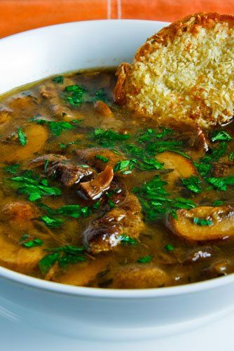 pot roast mushroom soup ~ use the leftovers from the pot roast recipe in Food for Thought board.