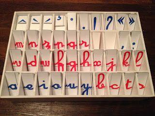 Le petit monde de Montessori: Boîte pour le petit alphabet mobile