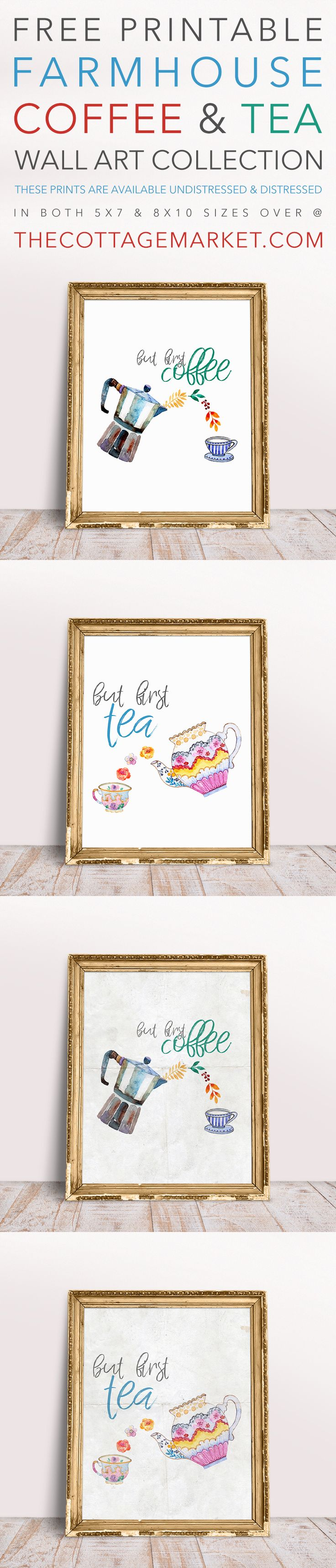 Guess what today is???  It is Free Printable Friday and today we have wonderful collection of wall art for you!  This Free Printable Coffee and Tea Wall Art Collection will make an amazing addition to your home decor! Available un-distressed and distressed (for that extra farmhouse touch)! You will find these in 2 sizes 8X10 …