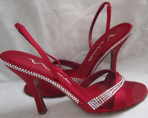 Nina Red Satin Shoes
