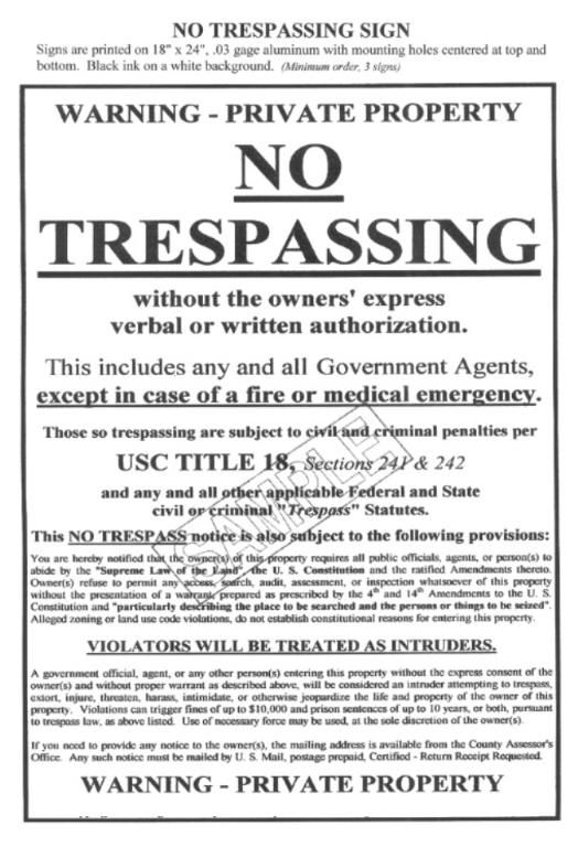 Constitutional Rights Of Private Property Owners Warrant