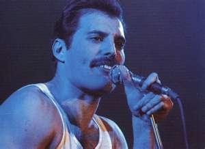 Lead singer for Queen Freddie Mercury