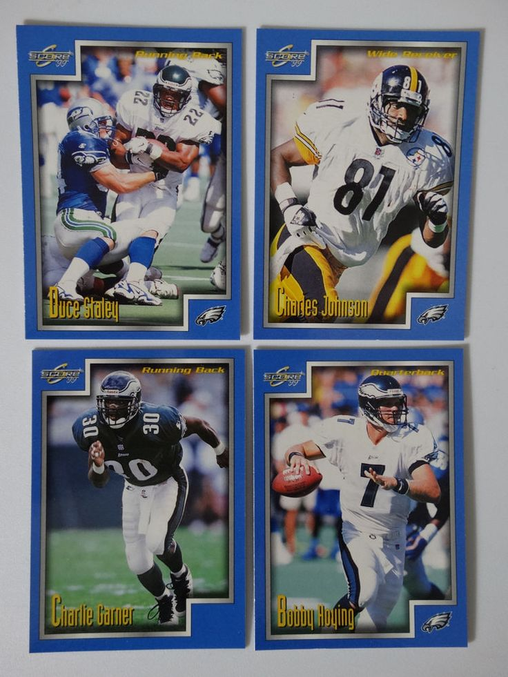 1999 Score Series 1 Philadelphia Eagles Team Set of 4 Football Cards #PhiladelphiaEagles