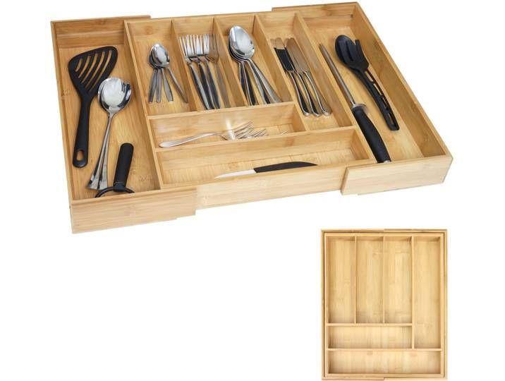 Besteckkasten Hwc B20 Schubladeneinsatz Geschirrkasten Bambus Variab Home Kitchen Souvenir
