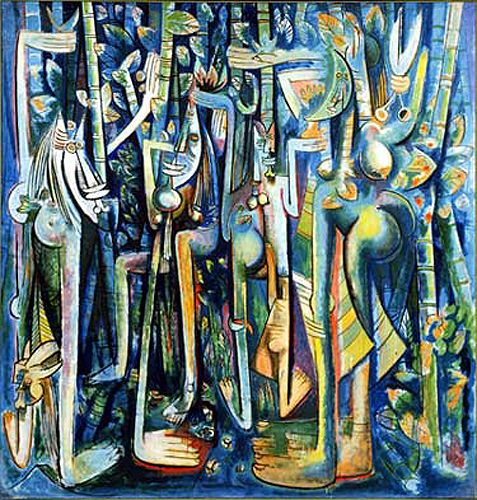 Wifredo Lam - La Jungla / The Jungle 1942-1943, oil on canvas