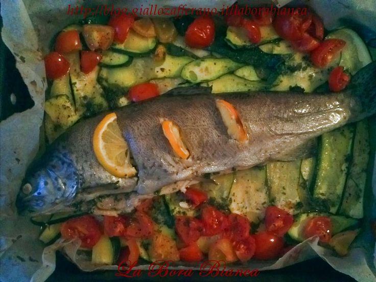 Trota al forno con verdure – ricetta di pesce