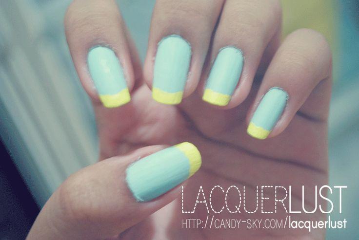 yellow matte nails - photo #11