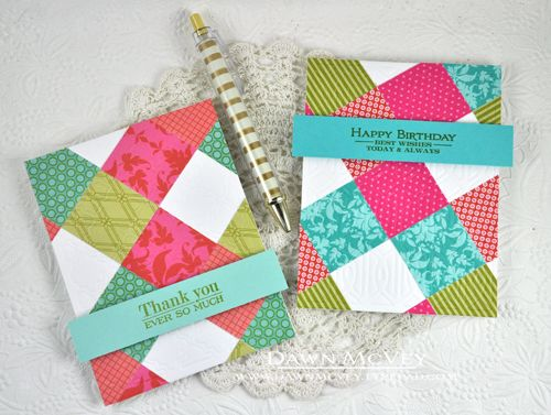 MIM #159-No-Sew Quilted Cards