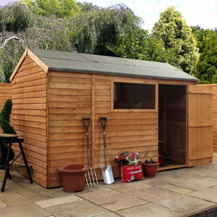 10 X 6 Windsor Overlap Reverse Apex Wooden Garden Shed Shedstore In 2020 Apex Shed Shed