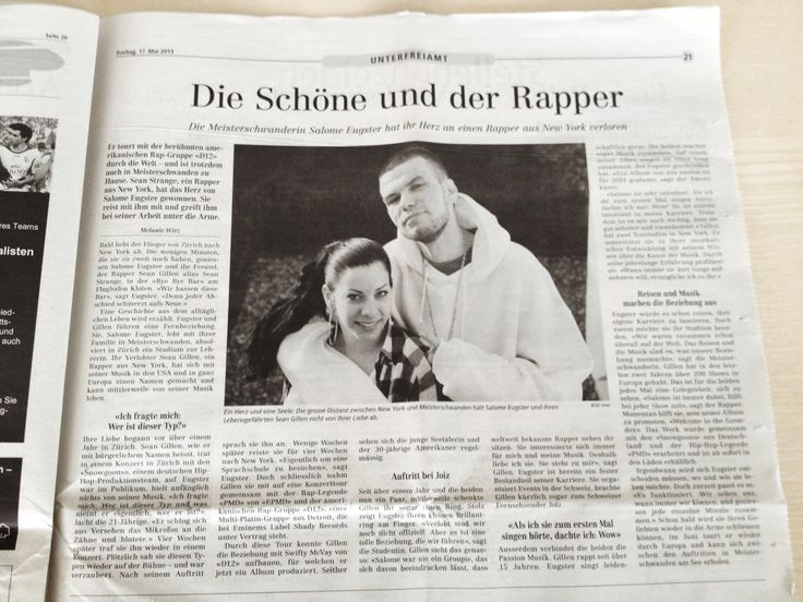 In the Newspaper in Switzerland together with Sean Strange