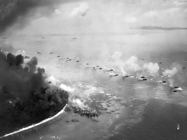 The Battle of Peleliu, codenamed Operation Stalemate II, was fought between the United States and the Empire of Japan in the Pacific Theater of World War II, from September–November 1944 on the island of Peleliu, present-day Palau. U.S. Marines of the First Marine Division and later soldiers of the U.S. Army's 81st Infantry Division, fought to capture an airstrip on the small coral island. This battle was part of a larger offensive campaign known as Operation Forager.