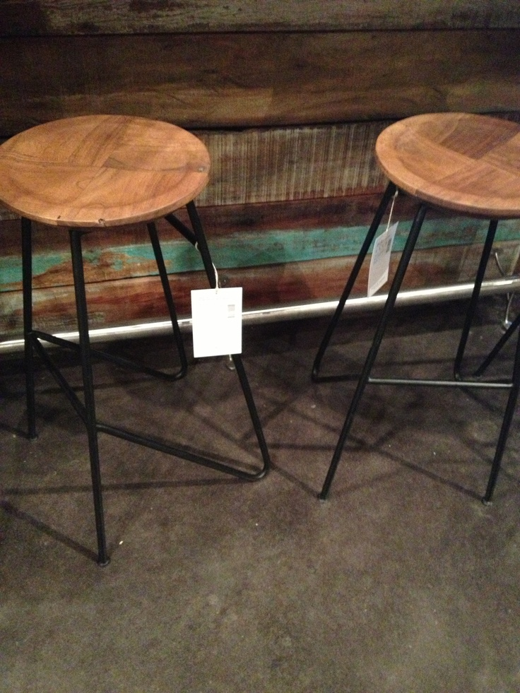 Wood And Metal Bar Stools At Four Hands A Treat Of A Seat