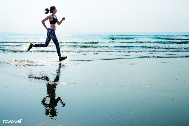 Download Premium Image Of A Woman Is Running At The Beach 85827 Running Women Running Photography Beach Fitness Photoshoot