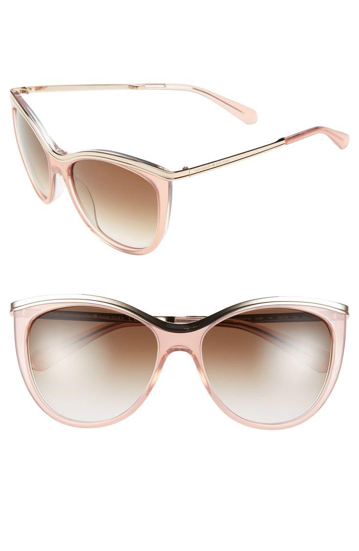 Oh, so glamorous | Blush Kate Spade cat eye sunglasses.