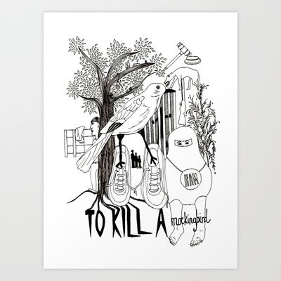To Kill a Mockingbird Art Print by Louise Norman