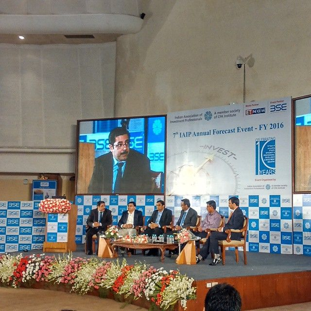 #BSE #BSEINDIA #BSEEVENT News Update -  Panelists on the dais for 7th IAIP Annual Forecast Event FY 2016 on Wednesday, 1st April, 2015